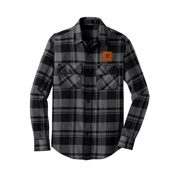 1 FP1120 Flannel Shirt grey 3